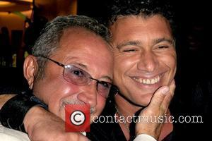 Steven Bauer and Emilio Estefan attend a party in honour of Pulitzer Prize winning author Liz Balmaseda at Eden Roc...