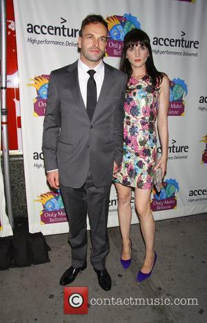 Jonny Lee Miller and his wife Michele Hicks 'Only Make Believe' 10th Anniversary Celebration held at the Shubert Theatre -...