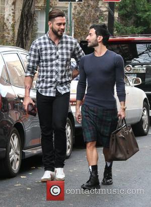 Marc Jacobs and husband Lorenzo Martone out and about in the West Village. Jacobs was wearing a kilt and carrying...