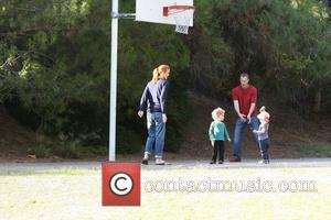 Marcia Cross, Tom Mahoney Play Basketball With Their Twin Daughters Eden and Savannah
