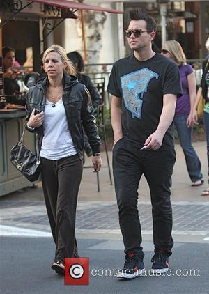 Mark Hoppus and his wife Skye Everly visit a movie theater in Hollywood Los Angeles, California - 15.10.09