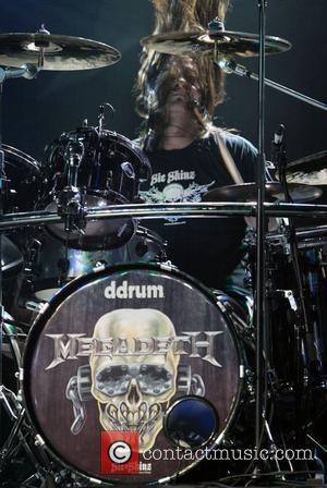 Shawn Drover Megadeth performing live in concert at the Hordern Pavilion. Sydney, Australia - 08.10.09
