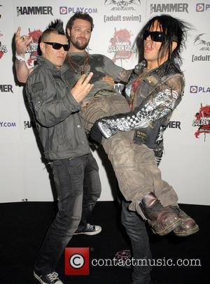 Bam Margera of Jackass arrives with The 69 Eyes Metal Hammer Golden Gods Awards at Indigo at O2 Arena London,...