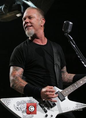 James Hetfield Metallica performing at the Bank Atlantic Center Sunrise, Florida - 01.10.09