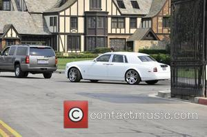 A Rolls Royce rumoured to belong to the King of Pop himself, at the Michael Jackson funeral at Forest Lawn...