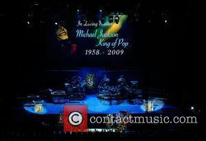 Michael Jackson  The memorial service for the King of Pop, Michael Jackson, at the Staples Center Los Angeles, California...