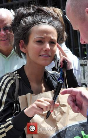 Michelle Keegan who plays Tina McIntyre of 'Coronation Street' arriving at Granada Studios Manchester, England - 08.07.09