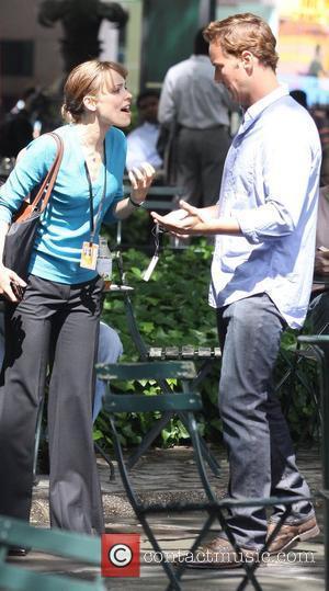 Patrick Wilson and Rachel McAdams on the film set of 'Morning Glory'  New York City, USA - 24.06.09
