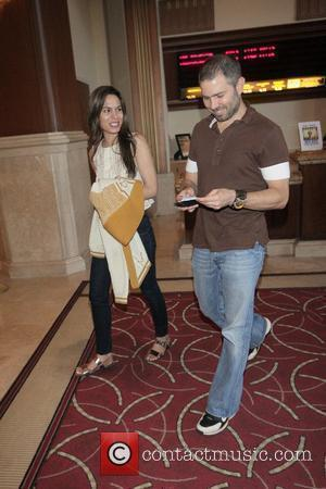 Nadine Velazquez has dinner and then goes to the movies with her boyfriend. Los Angeles, California - 16.07.09