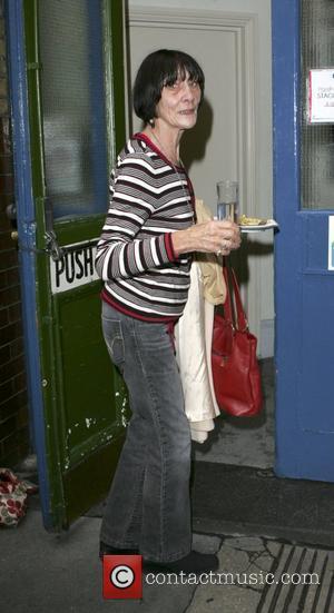 June Brown  carries her food back to the Noel Coward Theatre London, England - 28.10.09
