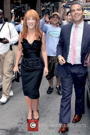 Kathy Griffin and Andy Cohen outside their Manhattan hotel New York City, USA - 09.06.09
