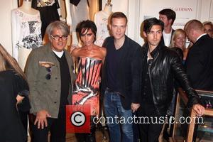 Giuseppe Zanotti, Milo Ventimiglia and Victoria Beckham