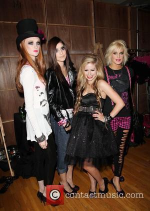 Avril Lavigne and models Abbey Dawn by Avril Lavigne fashion show held at style 360 - Mercedes-Benz IMG New York...