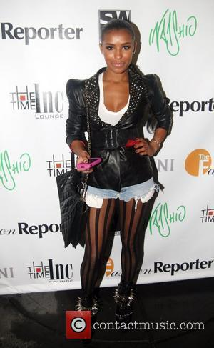 Melody Thornton from the Pussycat Dolls Indashio fashion show after party held at the Time hotel Mercedes-Benz IMG New York...