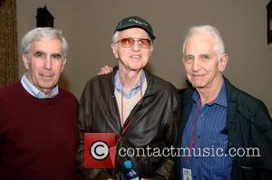 Haskell Wexler, Daniel Elssberg and Guest Ojai Film Festival Casino Night at the Ojai Valley Inn & Spa Ojai, California...