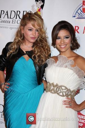 Paulina Rubio and Eva Longoria