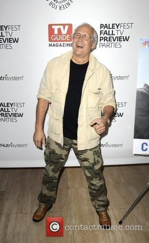 Chevy Chase in high spirits as he arrives at PaleyFest NBC Preview Party held at the Paley Museum Beverly Hills...