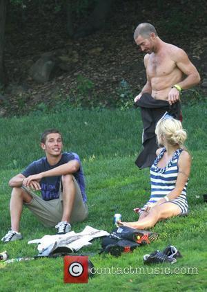 Pamela Anderson, Boyfriend Jamie Padgett and Friend
