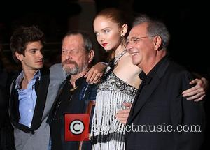 Andrew Garfield, Terry Gilliam and Lily Cole UK film premiere of 'The Imaginarium of Doctor Parnassus' held at the Empire...
