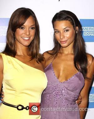 Eva La Rue and Lara La Rue 2009 Macy's Passport fashion show held at the Barker Hangar - Arrivals Los...