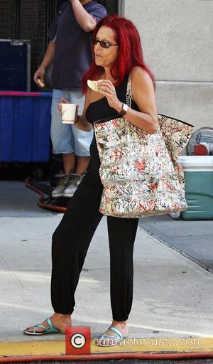 Patricia Field  on the set of her new movie 'Sex and the City 2' filming on location in Manhattan...