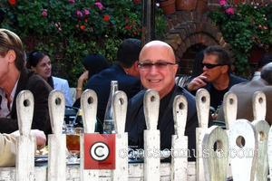 Paul Shaffer Late Night with David Letterman's band leader Paul Schaffer seen having lunch at the Ivy restaurant.  Los...