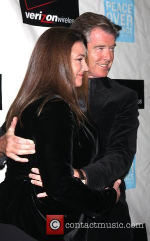 Pierce Brosnan & Wife Keely Shaye Smith Brosnan Peace over Violence 38th Annual Humanitarian Awards at the Beverly Hills Hotel...
