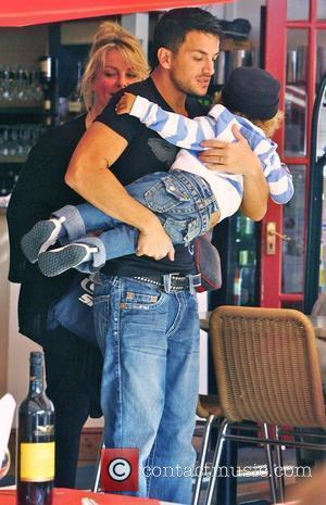 Peter Andre, With Manager Claire Powell and Her Son