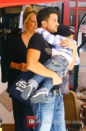 Peter Andre, With Manager Claire Powell and A Friend's Son