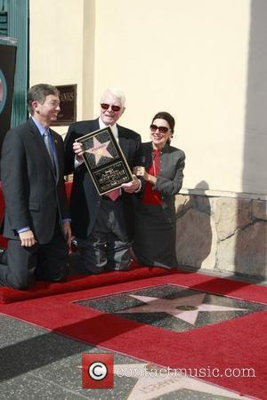 Peter Graves, Wife Joan and Leron Gubler (left)