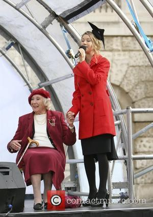Hayley Westenra and Dame Vera Lynn Poppy Appeal 2009 - Press Launch held at Horse Guards Parade London, England -...