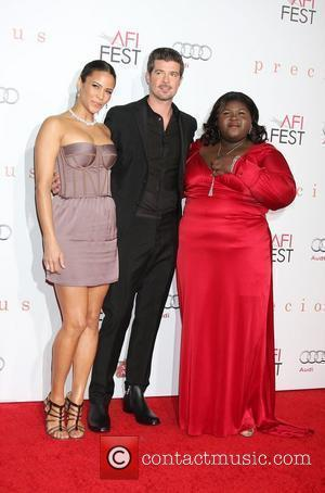 Paula Patton, Robin Thicke and Gabourey Sidibe 2009 AFI Fest 'Precious' Hollywood premiere held at the Grauman's Chinese Theatre -...