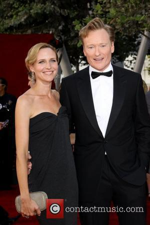 Conan O'Brien and and Elizabeth Ann Powel 61st Primetime Emmy Awards held at the Nokia Theatre - Arrivals Los Angeles,...