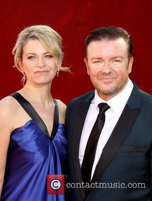 Jane Fallon and Ricky Gervais  61st Primetime Emmy Awards held at the Nokia Theatre - Arrivals Los Angeles, California...