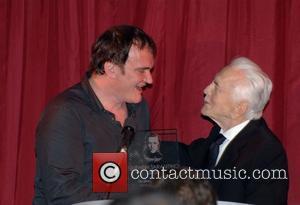 Quentin Tarantino and Kirk Douglas