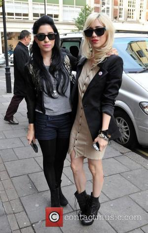Jessica and Lisa Origliasso of The Veronicas outside the BBC Radio 1 studios London, England - 21.09.09