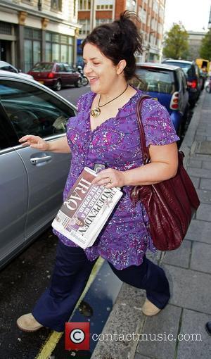Ruth Jones outside the BBC Radio 1 studios London, England - 26.11.09