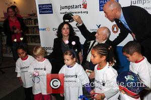 Mary-Louise Parker and Eric Carle Read for the Record held at New York Public Library New York City, USA -...