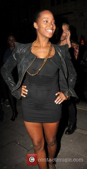 Jamelia outside Rihanna's Nokia gig afterparty at Mahiki nightclub  London, England - 16.11.09