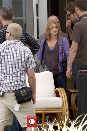 Emilie de Ravin on the set of her new film 'Remember Me' filming at a local beach New York City,...