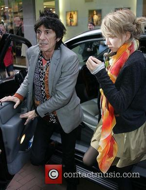 Ronnie Wood and Ekaterina Ivanova  arrives at BT2 in Grafton Street to play with his son Jesse's band 'Black...