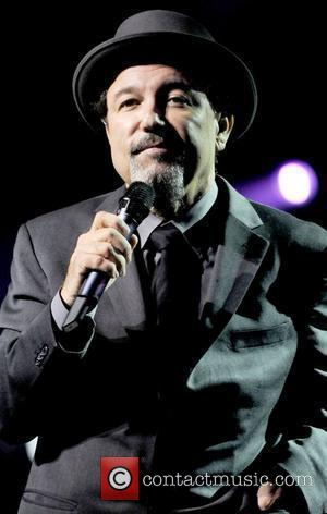 Ruben Blades performing on stage at the James L. Knight Center  Miami, Florida. - 21.11.09