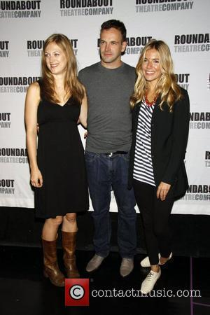 Marin Ireland, Jonny Lee Miller and Sienna Miller Photocall for the upcoming Broadway play 'After Miss Julie' - held at...