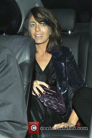 Claudia Winkleman leaves Simon Cowell's 50th birthday party London, England - 03.10.09