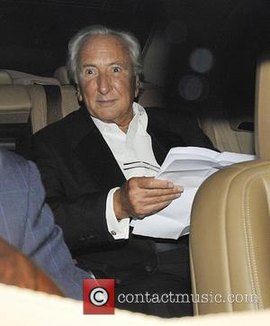 Michael Winner and Simon Cowell