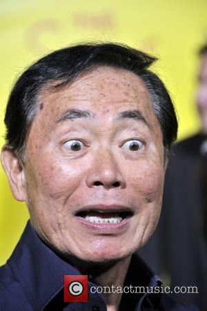 George Takei (Star Trek)  at the Simpsons Treehouse Of Terror and 20th anniversary party held at the Barker hangar...