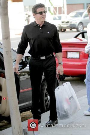Sylvester Stallone takes his daughters shopping in Beverly Hills on Black Friday  Los Angeles, California - 27.11.09