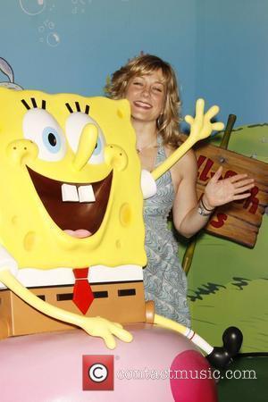 Amy Carlson and Spongebob Squarepants