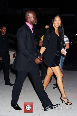 Djimon Hounsou and Kimora Lee Simmons arrive at the Standard hotel in Manhattan's Meatpacking District New York City, USA -...