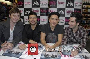 Richard Jones, Adam Zindani, Javier Weyer and Kelly Jones of the Stereophonics promoting and signing copies of their new album...